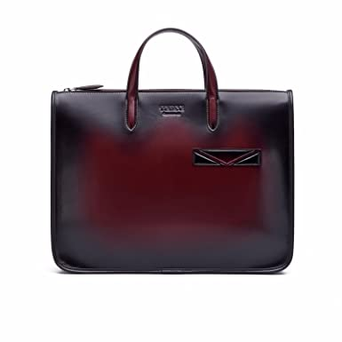 Image Unavailable. Image not available for. Colour  TERSE Men s Briefcase  Genuine Leather Handmade Laptop Sleeve ... b718b3d0fee82