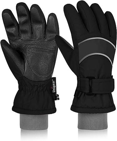 Childrens Girls Ski Gloves Studded Gem Design Winter Warm Cosy Outdoors