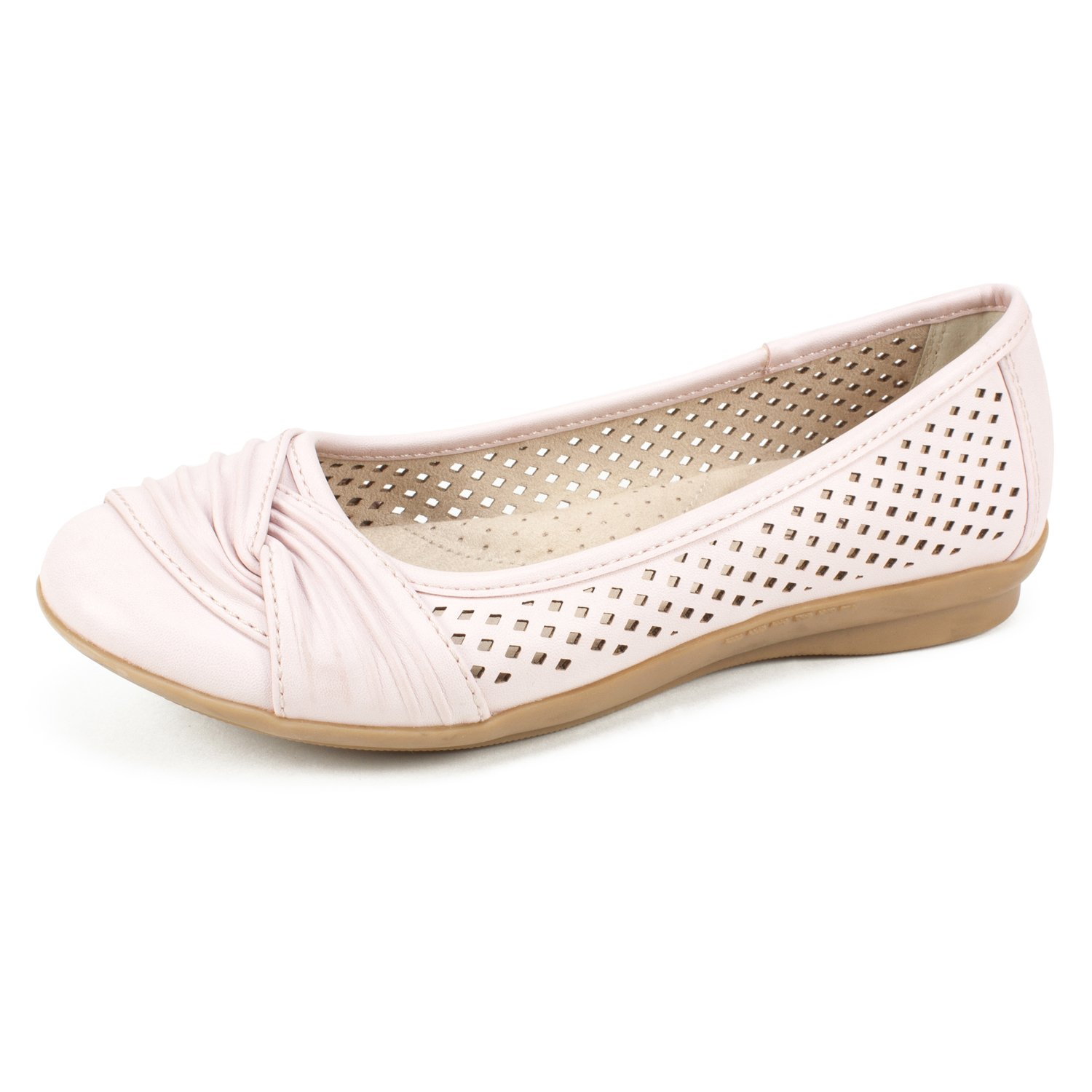 CLIFFS BY WHITE MOUNTAIN Shoes Harlyn Women's Flat, Pale Pink/Burnished/Smooth, 8 M B0797Q79DG Parent