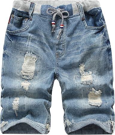Jeans Jungen Freizeit Bermuda Shorts Kinder Strech kurze Capri Hose 22641