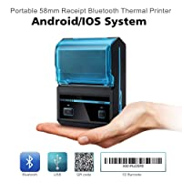 POSPRINT Thermal Receipt Printer With Bluetooth and USB Compatible with Android and IOS, Windows (Black)