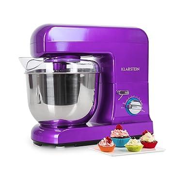Klarstein Gracia Viola • Robot de cocina • Batidora • Amasadora • 1000 W • 5