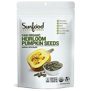 Sunfood Pumpkin Seeds, 8 Ounces, Organic, Raw