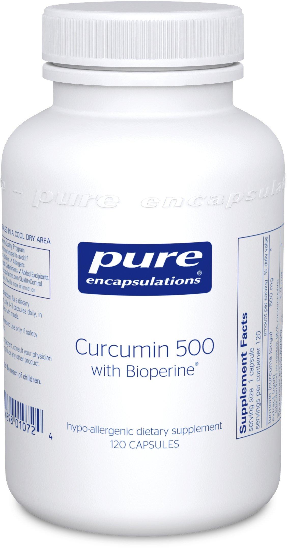 Pure Encapsulations - Curcumin 500 with Bioperine - Hypoallergenic Curcumin C3 Complex with Bioperine - 120 Capsules