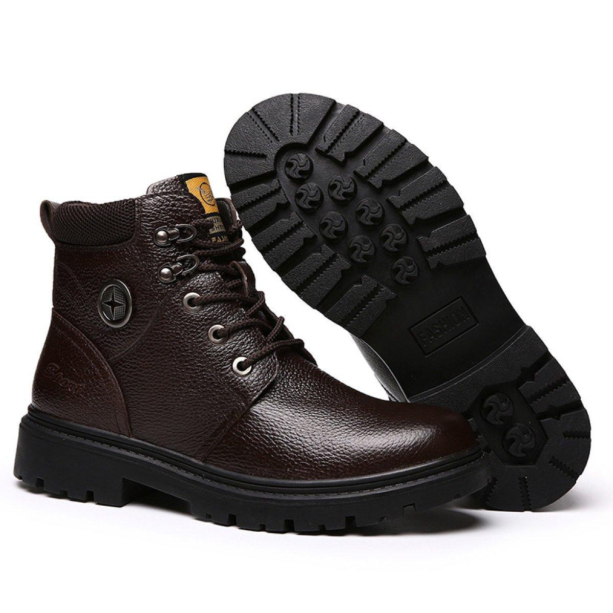 GTYMFH Martin Stiefel Lederstiefel Männer Baumwollschuhe Werkzeuge Hoch Hoch Hoch Zu Helfen Herrenschuhe Mode Stiefel 846c0d