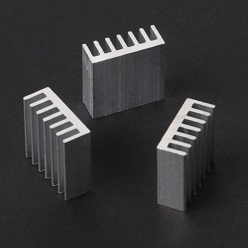 12 Pcs 14x14x6mm Silver Aluminum Radiator Heatsink Heat Sink Cooling Kit MANGKE