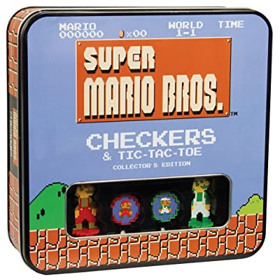 USAOPOLY Super Mario Bros Checkers & Tic-Tac-Toe Collector's Edition Board Game: Toys & Games