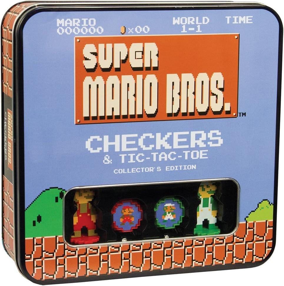 Super Mario Bros Checkers & Tic-Tac-Toe Collectors Edition Board Game by USAopoly: Amazon.es: Juguetes y juegos