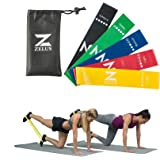 Z ZELUS Resistance Bands Exercise Loops for Daily Workout, Pilates, Yoga, Rehab, Physical Therapy, Set of 5