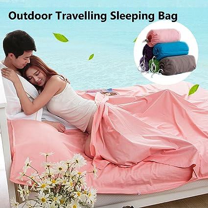 docooler al aire libre viajar Trekking saco de dormir Liner compacto ligero tejido de algodón saco de dormir, Marrón: Amazon.es: Deportes y aire libre