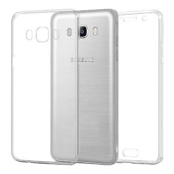 TBOC Funda para Samsung Galaxy J5 (2016) J510 - Carcasa [Transparente] Completa [Silicona TPU] Doble Cara [360 Grados] Protección Integral Total ...