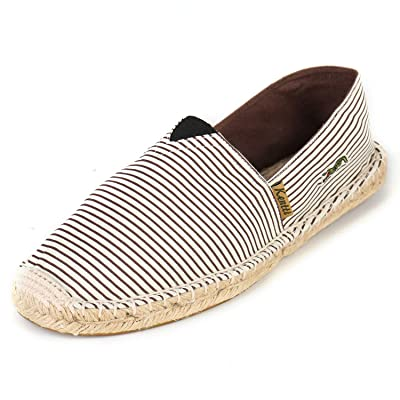 Kentti Men's Breathable Canvas Stripe Slip on Flat Espadrilles | Loafers & Slip-Ons