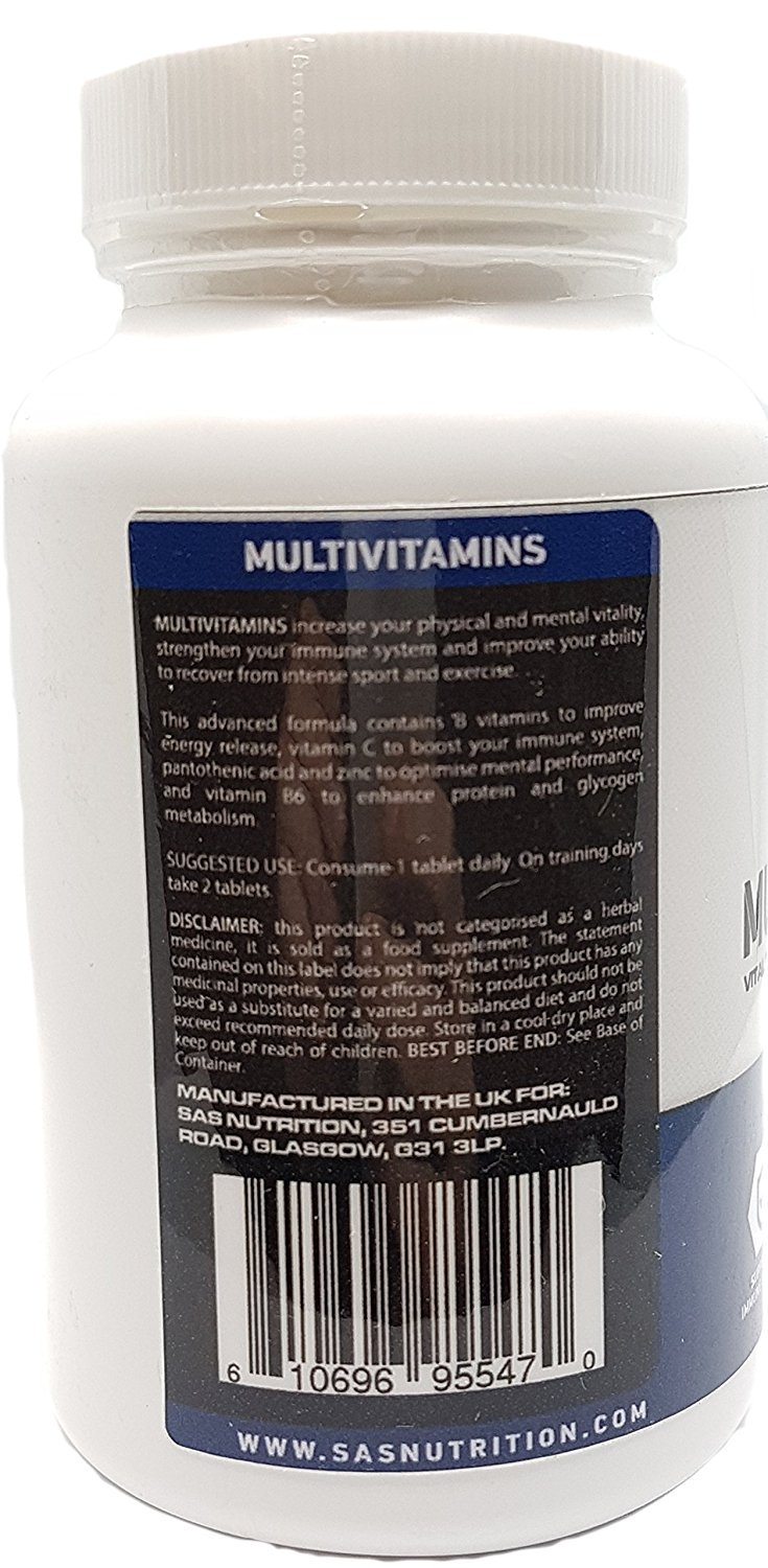 Amazon.com: SAS Nutrition Multivit 120 Tablets - Multi Vitamin A - Z for Daily Wellbeing: Computers & Accessories