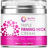 ACTIVSCIENCE Neck Firming Cream, Anti Aging Moisturizer for Neck & Décolleté, Double Chin Reducer, Skin Tightening Cream 1.7