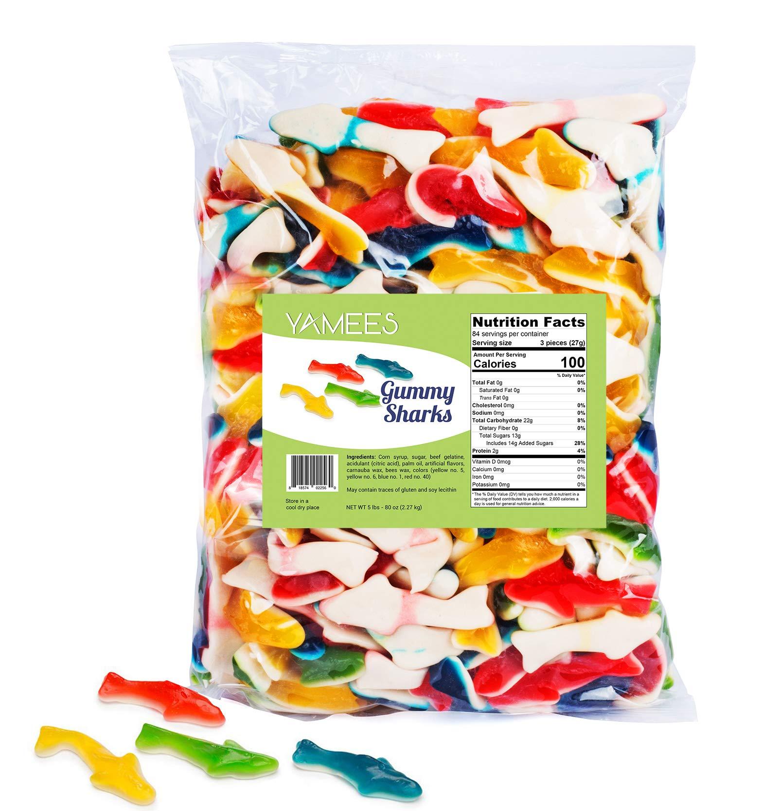 Gummy Sharks - Gummy Sharks Candy - Gummy Sharks Bulk - Bulk Candy - 5 Pounds (Assorted)