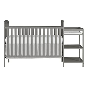 Dream On Me Anna 4 In 1 Full Size Crib And Changing Table Combo, Steel