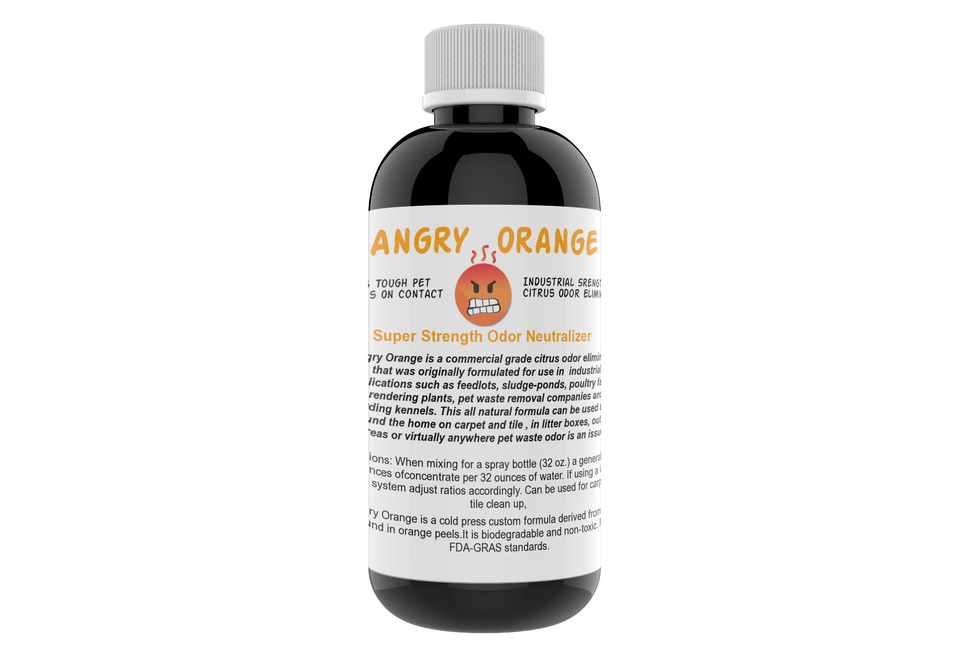 Angry Orange Pet Odor Eliminator 8 oz. bottle- Industrial Strength Pet Odor Remover - Makes (4) 32oz. Bottles - 1 Gallon - Neutralizes and Sanitizes Tough Pet Odors Fast by Angry Orange (Image #3)