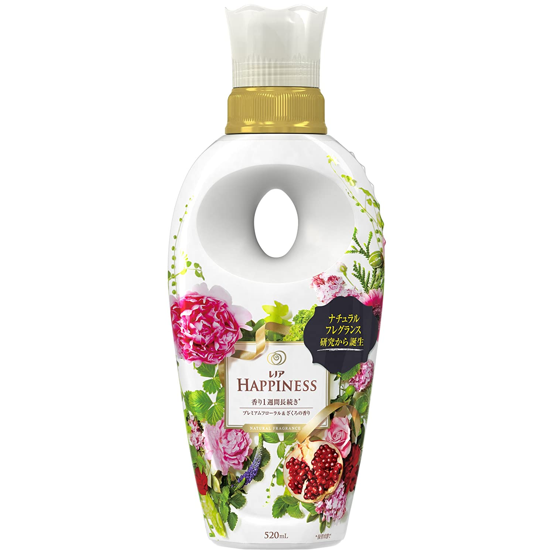 レノアハピネス 柔軟剤 ナチュラルフレグランス プレミアムフローラルナチュラル&ざくろの香り