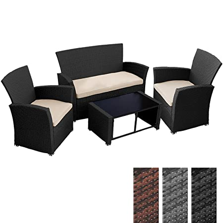 Garden Rattan Furniture Uk Miadomodo 4pcs garden rattan furniture table and sofa seat set with miadomodo 4pcs garden rattan furniture table and sofa seat set with cushions black workwithnaturefo