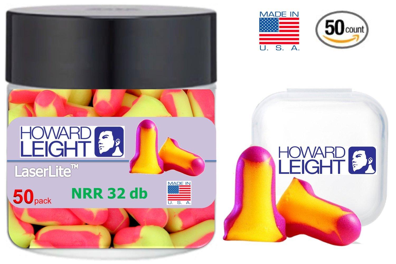 Howard Leight Ll1 Laser Lite Foam Earplugs No Cords, 50 Count in a jar