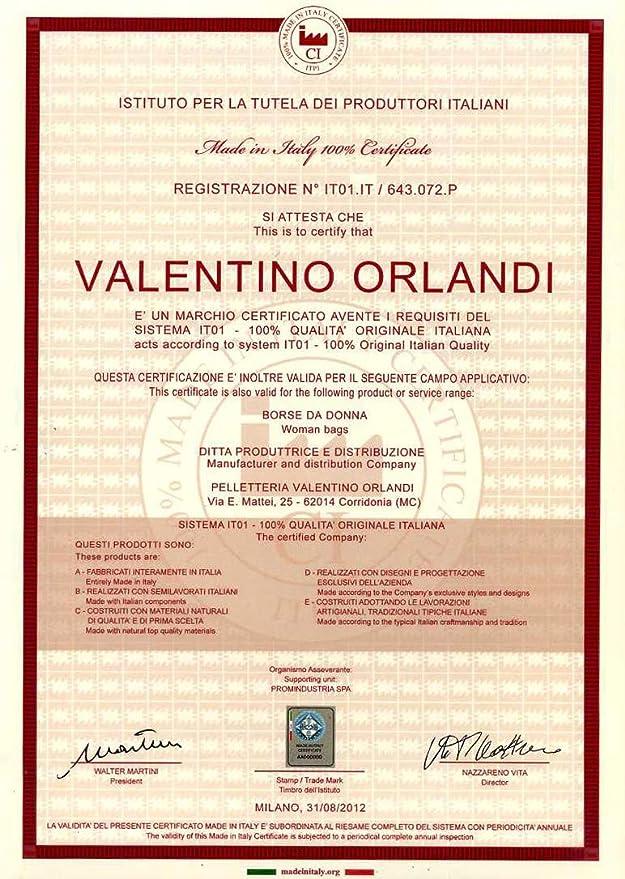 Amazon.com: Valentino Orlandi - Cartera de piel con cierre ...