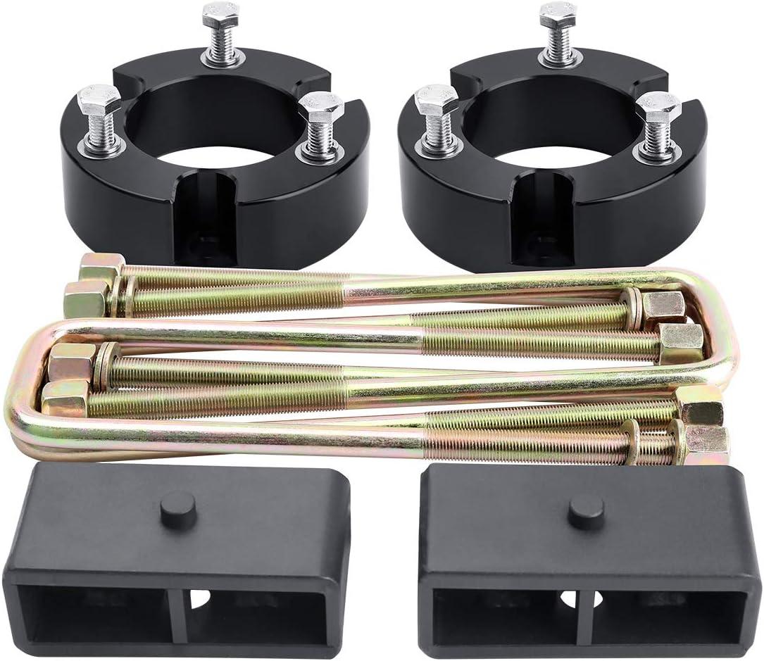 kit de elevaci/ón de nivelaci/ón frontal de coche compatible con Dodge RAM 1500 2006-2019 4WD Kit de elevaci/ón de nivelaci/ón frontal 2 piezas de 2 pulgadas
