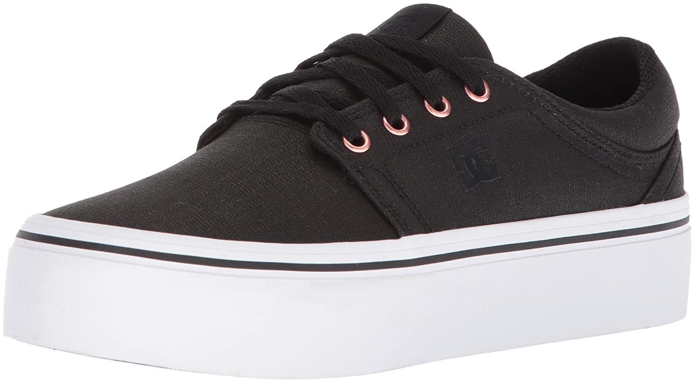DC Women's Trase Platform TX SE Skate Shoe B0731XWYGK 9.5 B(M) US|Black/Gold