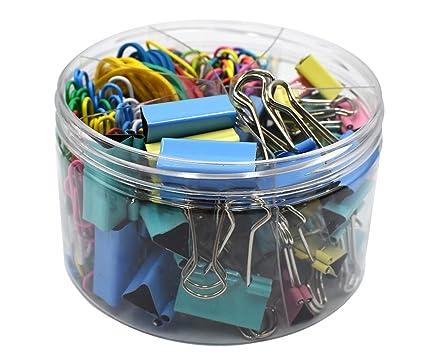 WYLSY - Juego de clips para carpetas, clips de papel, bandas ...