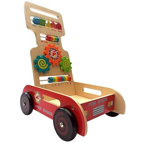 BeeSmart - Caminador de madera para múltiples actividades, diseño de bombero