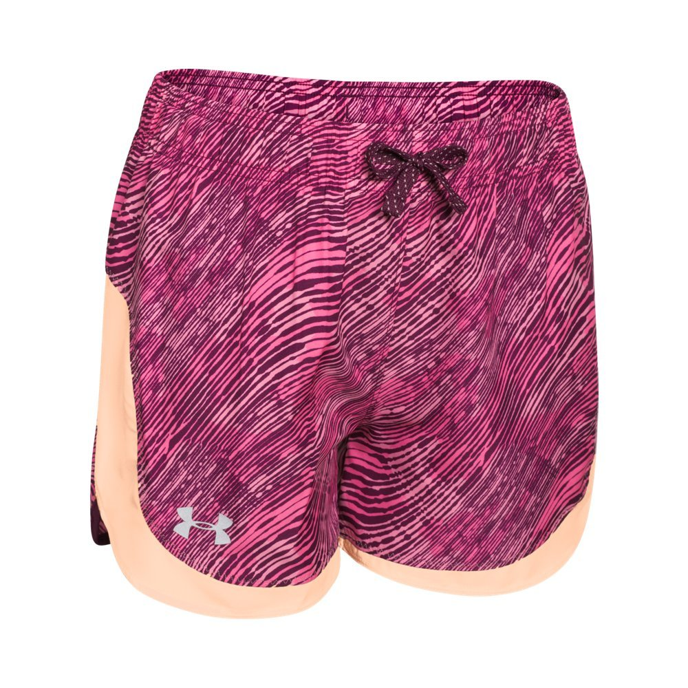 Kids Under Armour Girls Novelty Stunner Short, Peach Frost, MD (10-12 Big Kids) by Under Armour