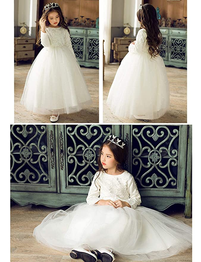 Zhhlinyuan Vestidos De Rosa Princesa Para Las Niñas Fiesta