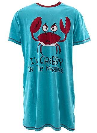 b9ac430727 Amazon.com  I m Crabby In The Morning-Crab Nightshirt by LazyOne  Clothing