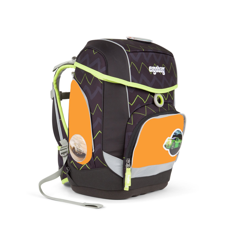 Ergobag - Schulranzen Set 5 tlg. CUBO - Drunter und DrüBär inkl. Sporttasche und Seitentaschen (3tlg.)