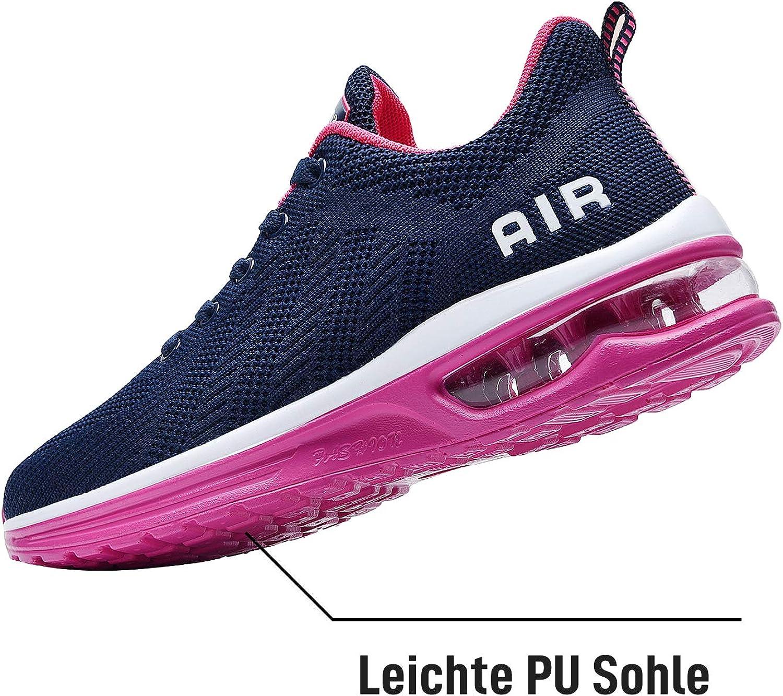 NewNaisu Womens Running Shoes Ladies Trainers Air Cushion Mesh Lightweight Breathable Gym Jogging Walking Tennis Sneakers