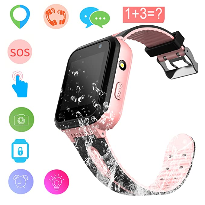 Kids Smart Watch GPS Tracker Waterproof - Child Watch Phone Digital Wrist Watch SOS Alarm Clock Camera Flashlight Phone Watch for Children Age 3-12 ...