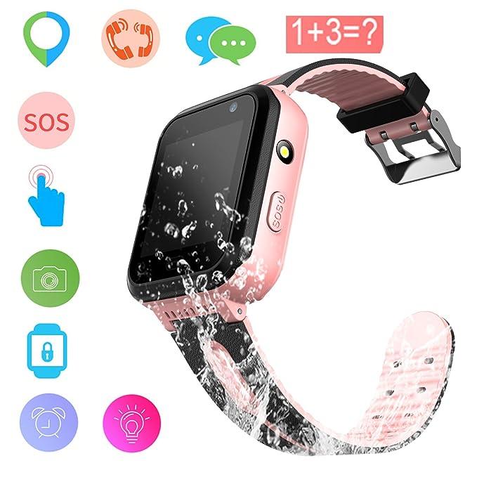 e543dcab3 Kids Smart Watch GPS Tracker Waterproof - Child Watch Phone Digital Wrist  Watch SOS Alarm Clock