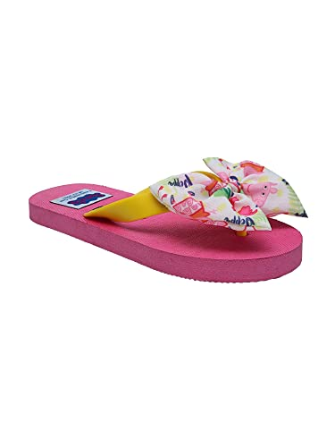 3f4ab4020 D chica Fancy Rubber Bows Look Chic Peppa Flip Flop for Girls - (Size