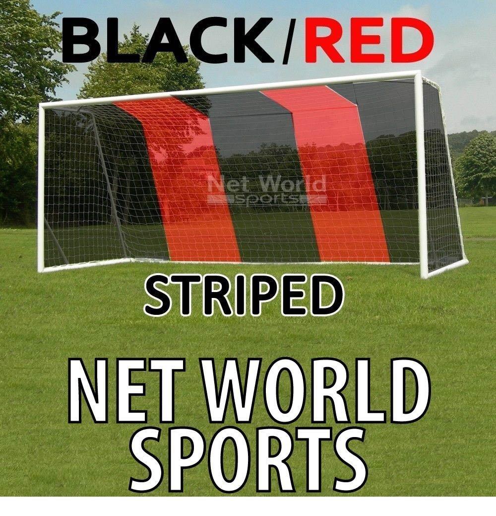 Hochwertiges Tornetz, 7,3 x 2,4 m Schwarz Rot, mit oberer Tiefe [Net World Sports]