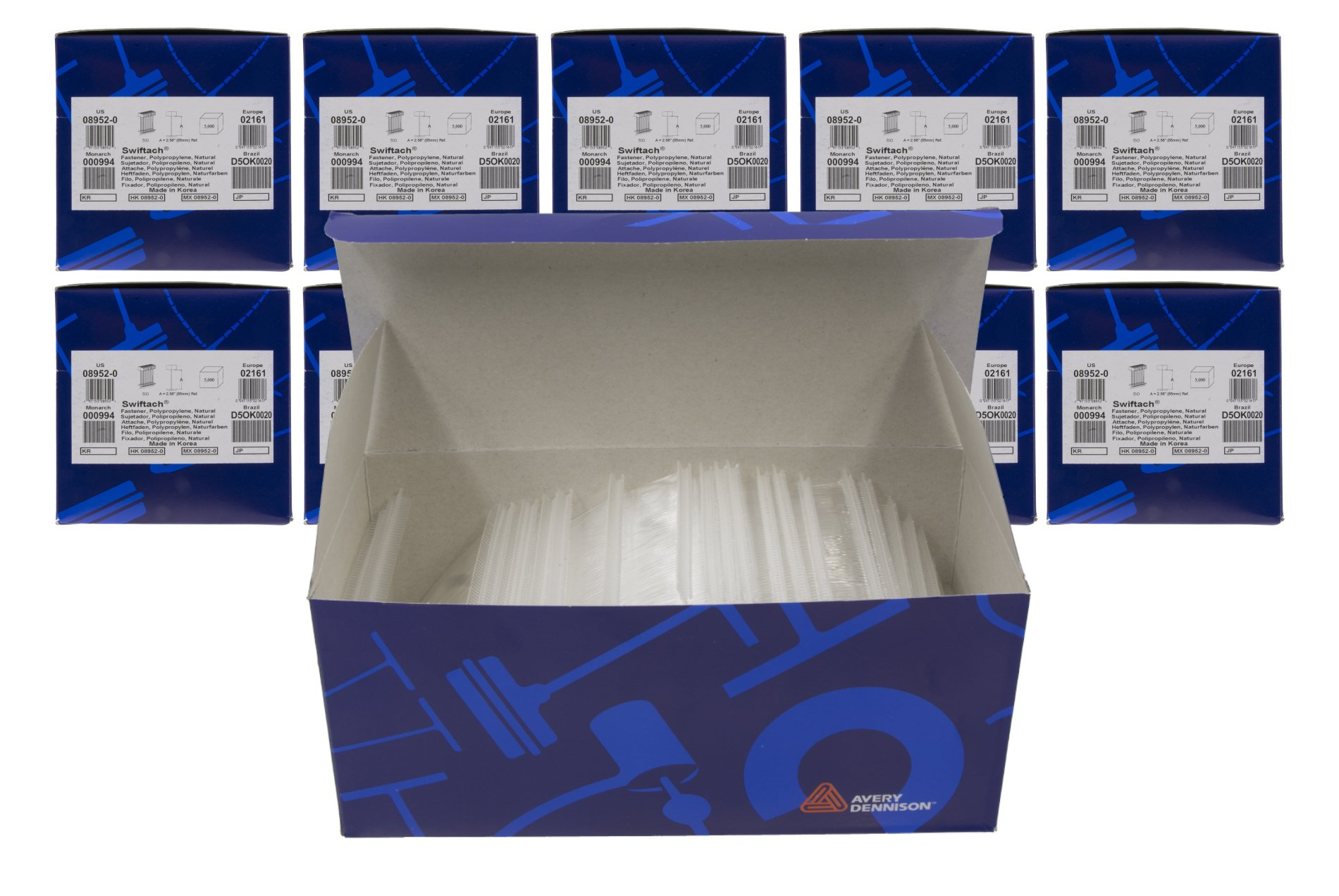 10-Pack of Avery Dennison 3'' Swiftach Tagging Gun Barbs / Fasteners – 5,000 Fasteners Per Box = 50,000 Fasteners – Genuine Avery Dennison # 08952