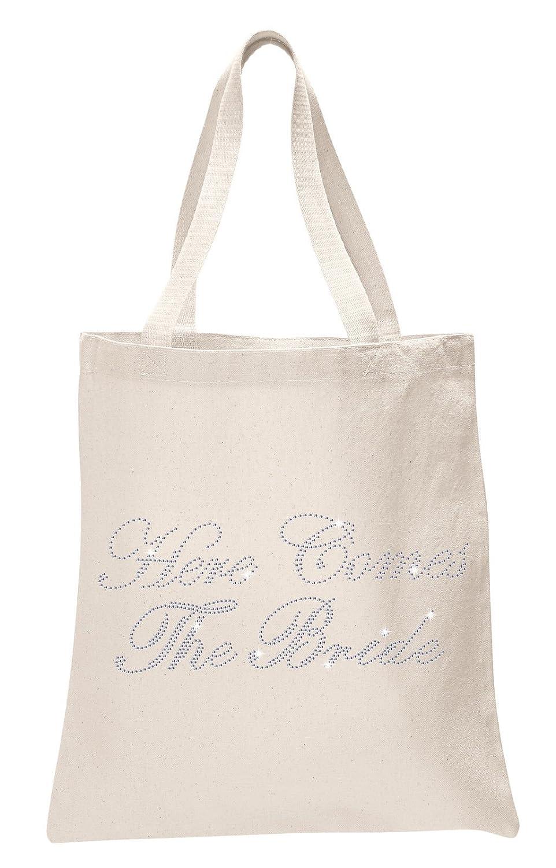 Ivory Bride To Be Luxury Crystal Bride Tote bag wedding party gift bag Cotton Varsany VARTote100087
