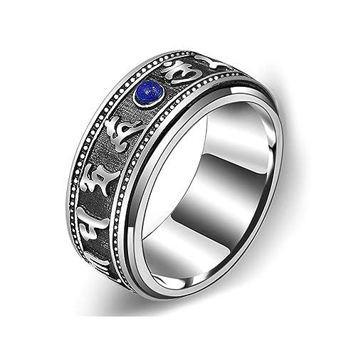 3141be9a70 Aooaz Gioielli anelli da uomo anello argento 925 Retro lettera con anello  di pietra anelli vintage: Amazon.it: Gioielli