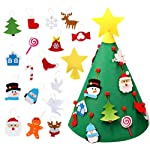 AerWo 28 Inch 3D DIY Felt Christmas Tree Set with 18 Detachable Ornaments, Upgraded Toddler Christmas Tree for Kids Xmas...