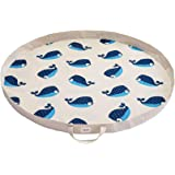 3 Sprouts Play Mat Bag – Large Portable Floor Activity Rug for Baby Storage, Whale