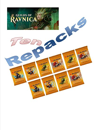 Amazon com: Guilds of Ravnica MTG Booster Pack Repacks (10