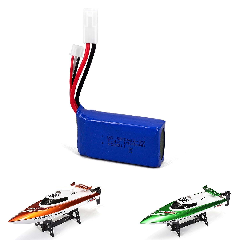 1500mAh 7,4V Batterie d'origine pour bateau RC Speed ft009, bateau, modèle, Pièce de Rechange, NEUF