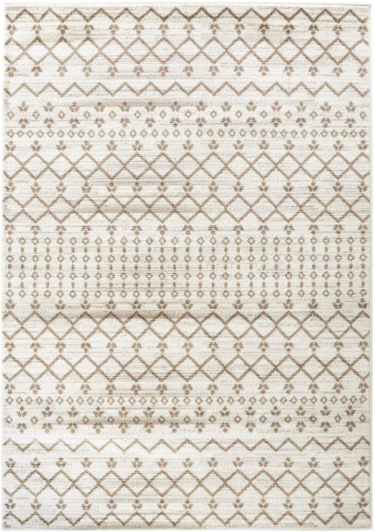 Majestic Looms Rom918 Distressed Farhouse Rugs Cream Ivory Brown Tribal Area Rug Carpet Rugs 9×12 Actual 8 .6 x 12