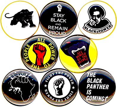 Set of 8 Black Panther 1 Button//Pins//Badges