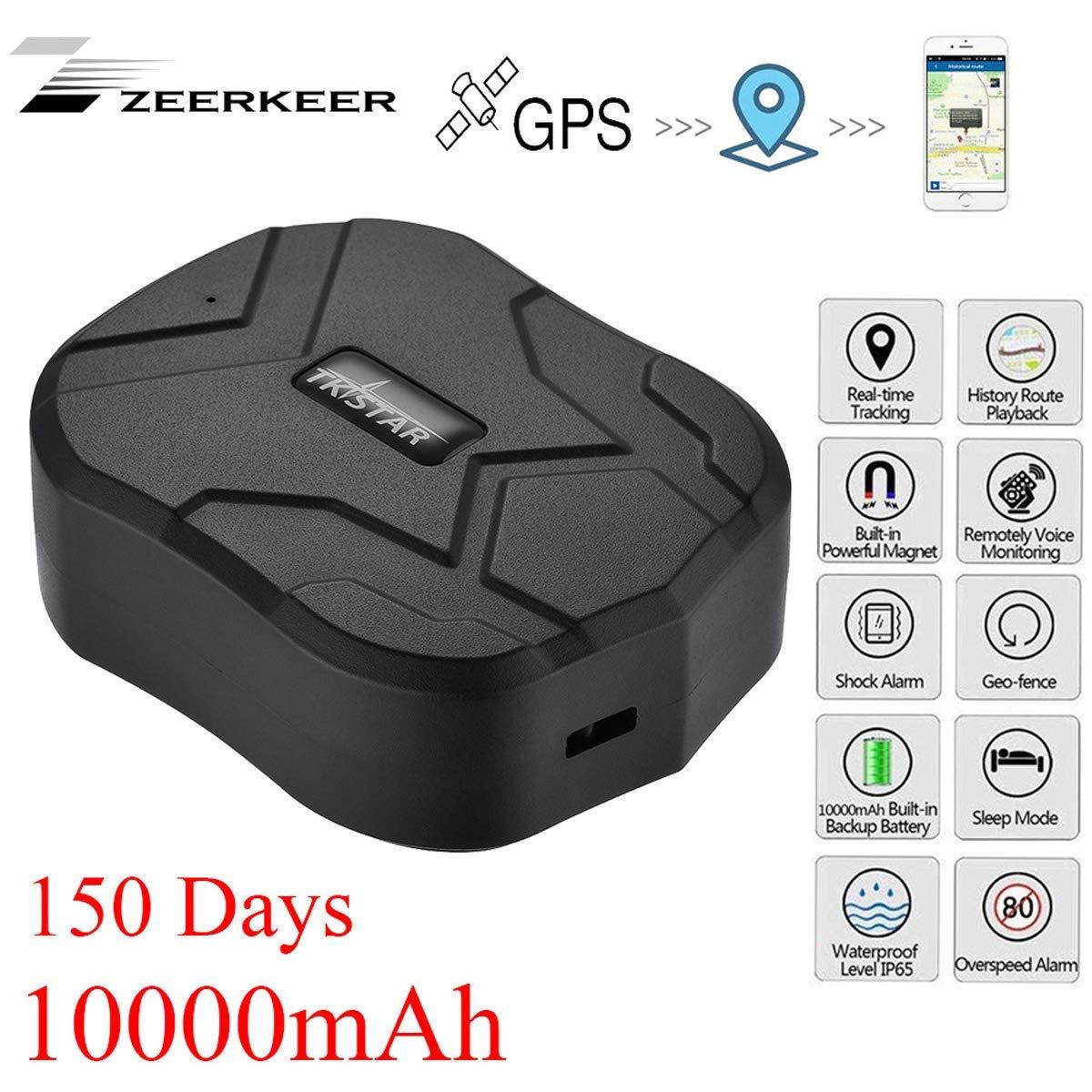 GPS Tracker,10000mAh 150 días de Espera,Seguimiento en Tiempo Real,Magnético Fuerte Rastreador Antirrobo a Prueba de Agua,Localizador de GPS para ...