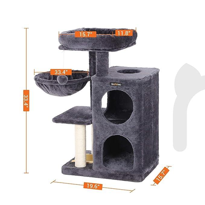 Amazon.com: FEANDREA Árbol de gato de varios niveles con ...
