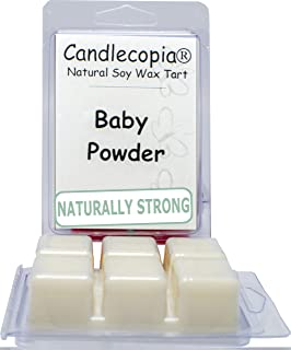 product image for Candlecopia Baby Powder Strongly Scented Hand Poured Vegan Wax Melts, 12 Scented Wax Cubes, 6.4 Ounces in 2 x 6-Packs
